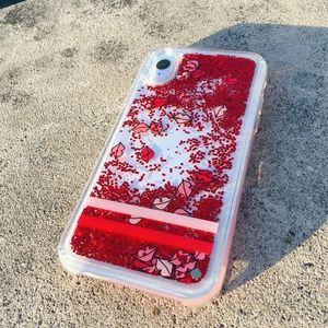 Kate Spade Lip Liquid Glitter Clear Phone Case